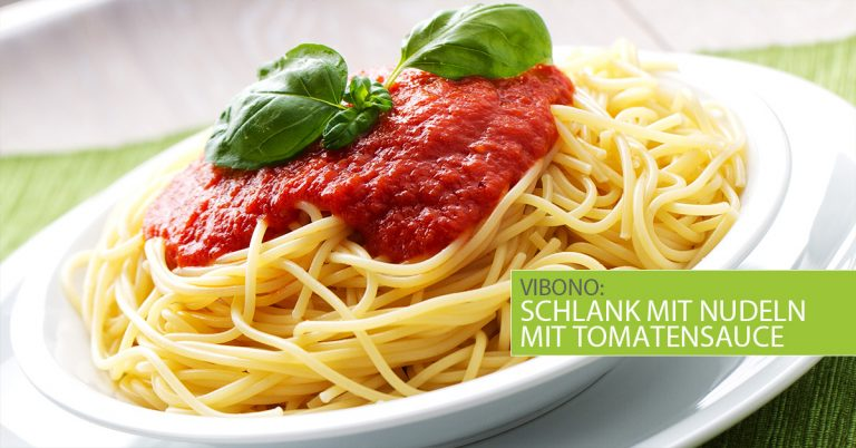 Schlank mit Nudeln mit Tomatensauce