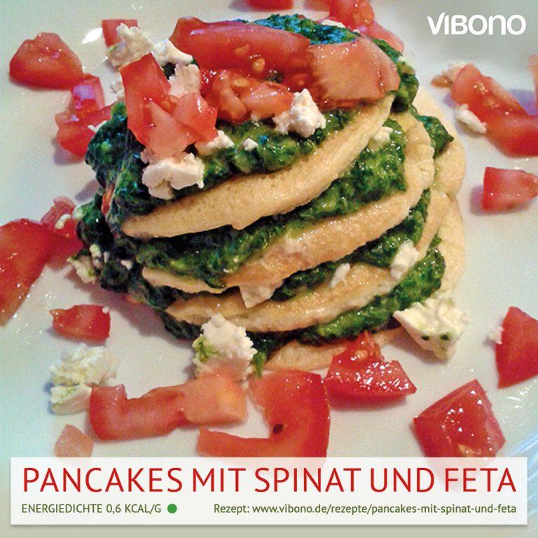 Pancakes mit Spinat und Feta