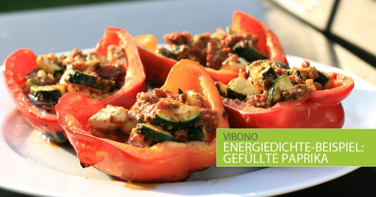 Energiedichtebeispiel: Gefüllte Paprika vom Grill
