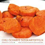 Chili-scharfe Süßkartoffeln