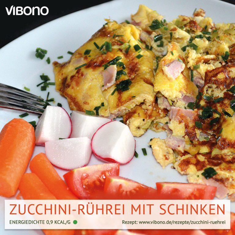 Zucchini-Rührei mit Schinken