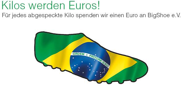 Ihr nehmt ab, wir spenden. Für jedes Kilo einen Euro.