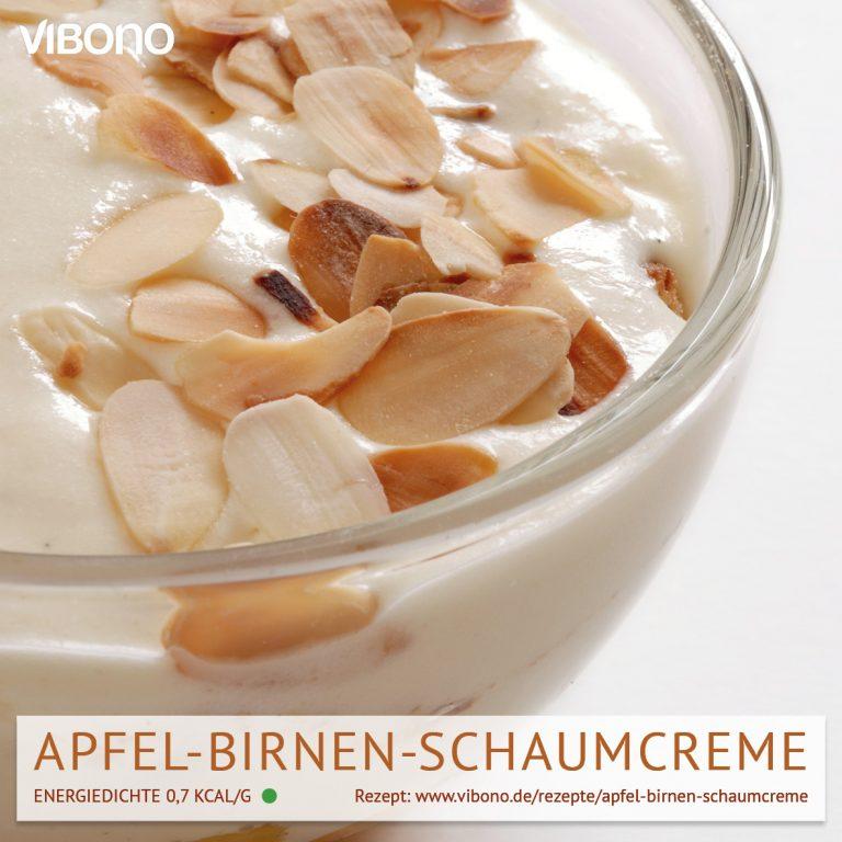 Apfel-Birnen-Schaumcreme