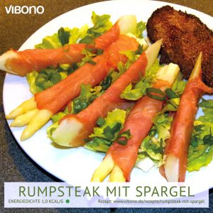 Rumpsteak mit Spargel