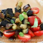Lauwarmer Auberginen-Tomaten-Salat