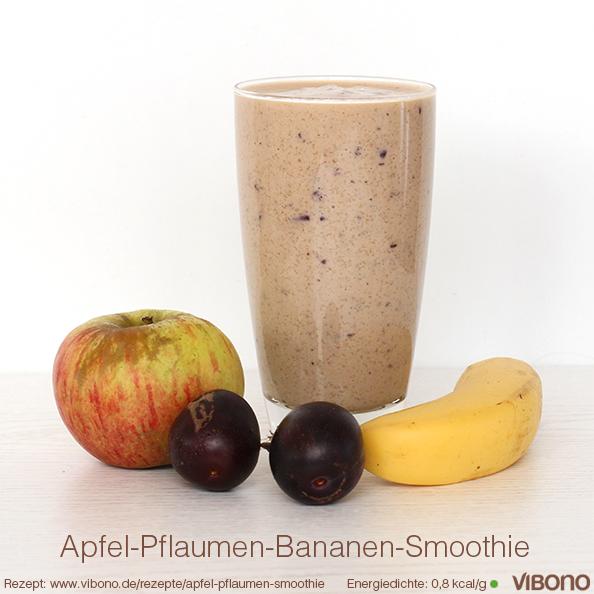 Apfel-Pflaumen-Bananen-Smoothie