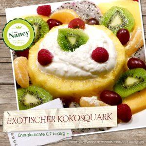 Kokosquark mit Früchten