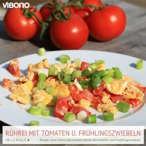 Rührei mit Tomaten und Frühlingszwiebeln