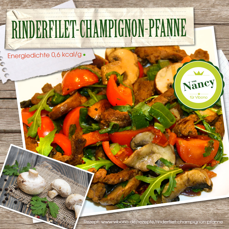 Rinderfilet-Champignon-Pfanne