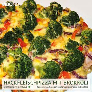 Hackfleischpizza mit Brokkoli