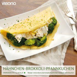 Hähnchen-Brokkoli-Pfannkuchen