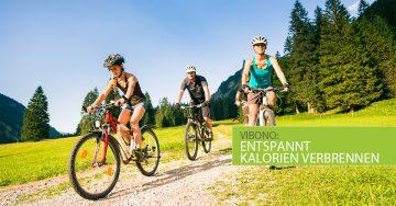 Entspannt Kalorien verbrennen beim Fahrradfahren