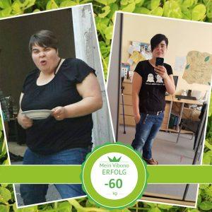 Minus 60 kg durch Ernährungsumstellung