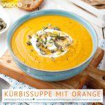 Kürbissuppe mit einem Hauch von Orangen
