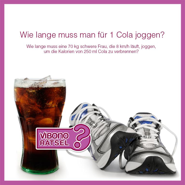 Wie lange muss man für 1 Cola joggen?