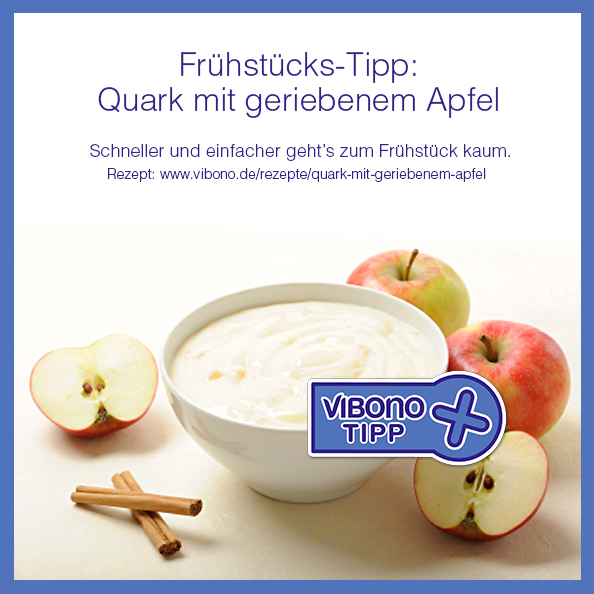 Frühstücks-Tipp: Quark mit geriebenem Apfel