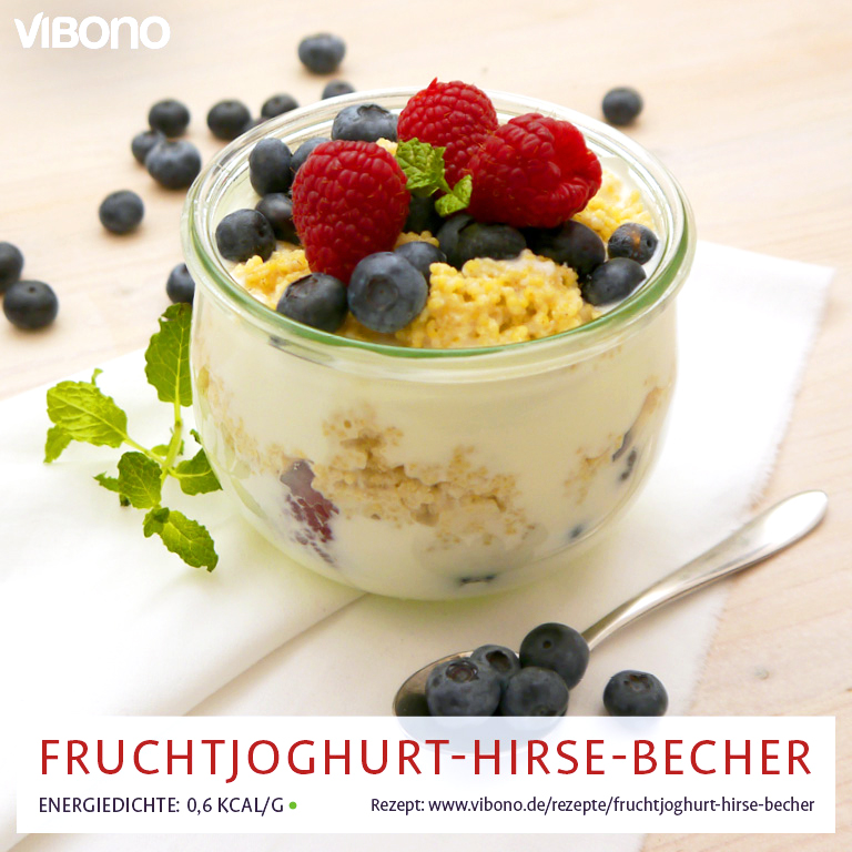 Fruchtjoghurt-Hirse-Becher