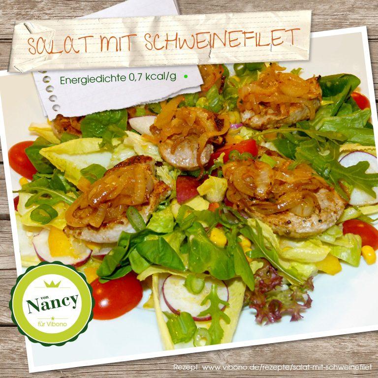 Salat mit Schweinefilet