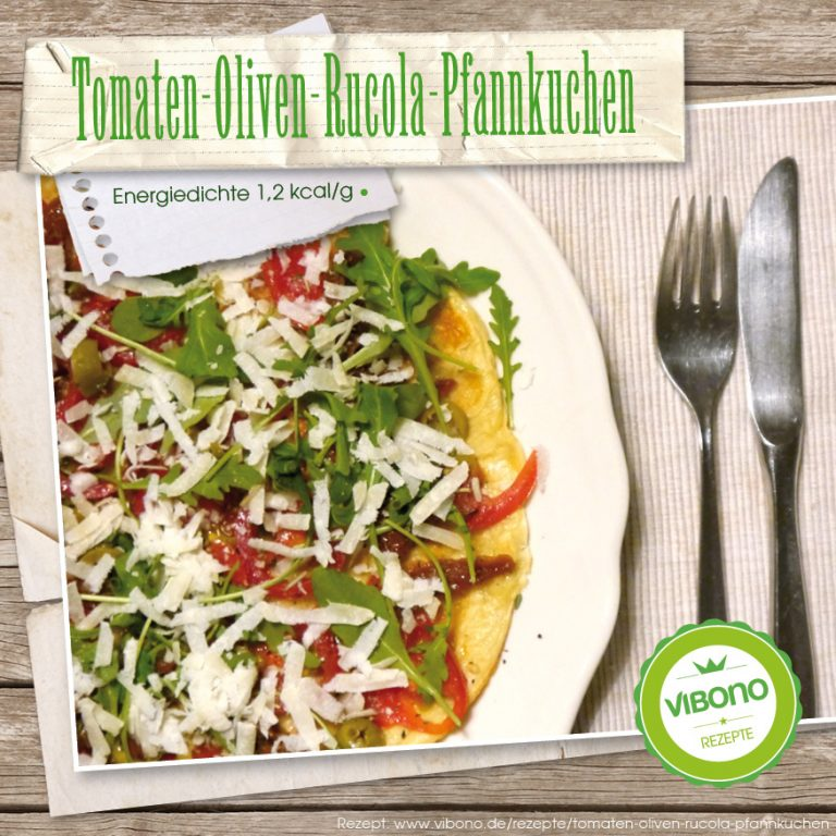 Tomaten-Oliven-Rucola-Pfannkuchen