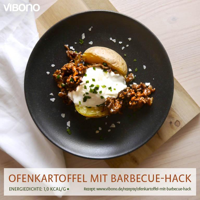 Ofenkartoffel mit Barbecue-Hack