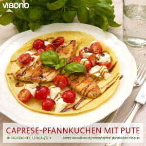Caprese-Pfannkuchen mit Pute
