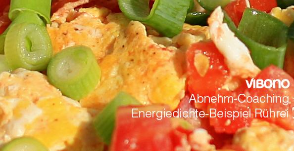 Energiedichte-Beispiel Rührei mit Tomaten