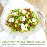 Ziegenkäsepfannkuchen mit Avocado