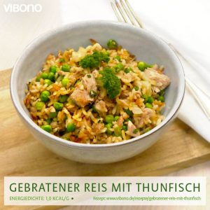 Gebratener Reis mit Thunfisch und Erbsen