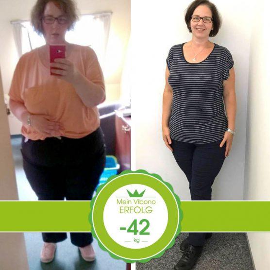 Ich habe nun fast 42 Kilo abgenommen