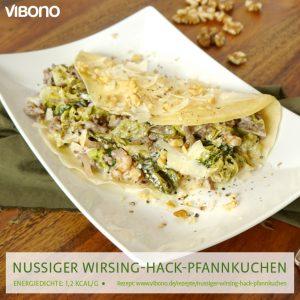 Nussiger Wirsing-Hack-Pfannkuchen