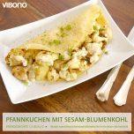 Pfannkuchen mit Sesam-Blumenkohl
