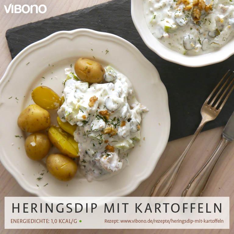Heringsdip mit Kartoffeln