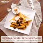 Buttermilchcrêpe mit Gewürzapfel