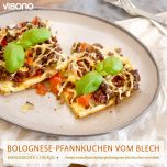 Bolognese-Pfannkuchen vom Blech