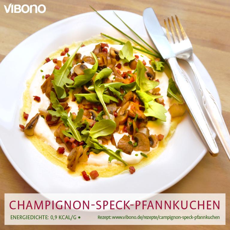 Champignon-Speck-Pfannkuchen
