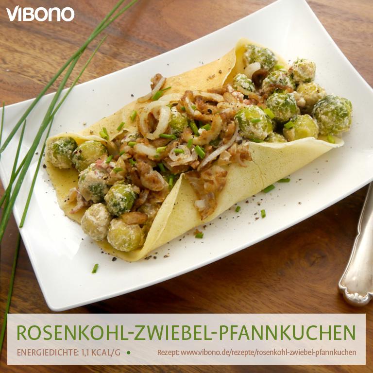 Rosenkohl-Zwiebel-Pfannkuchen