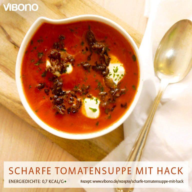 Scharfe Tomatensuppe mit Hack