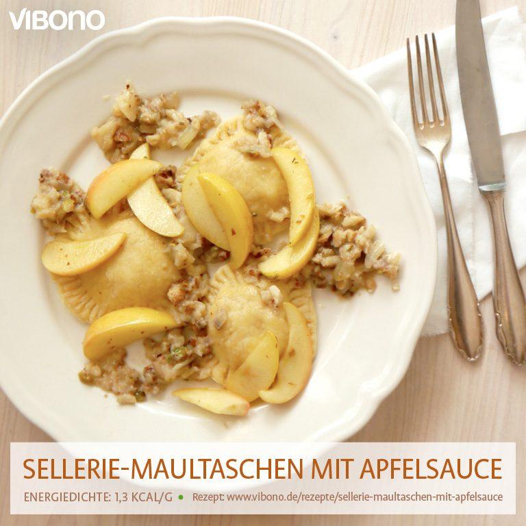 Sellerie-Maultaschen mit Apfelsauce