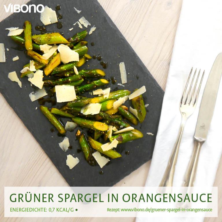 Grüner Spargel in Orangensauce