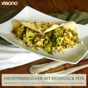 Hackpfannkuchen mit Brokkoli & Feta