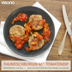 Thunfischburger mit Tomatendip