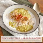 Buchweizen-Rhabarber-Bowl