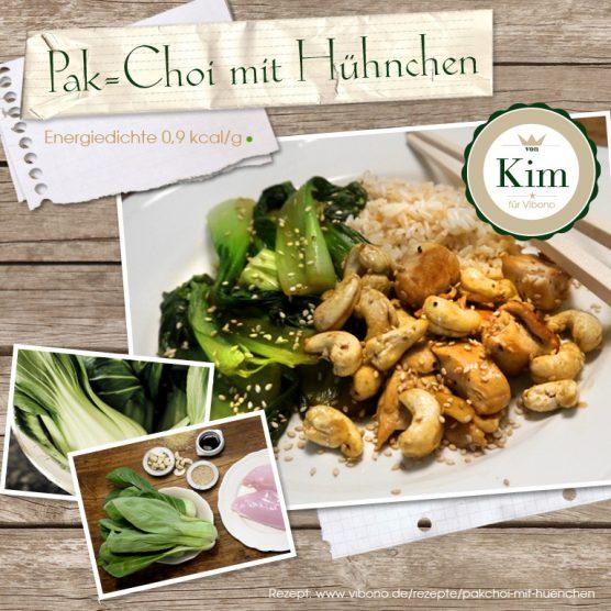 Pak-Choi mit Hühnchen