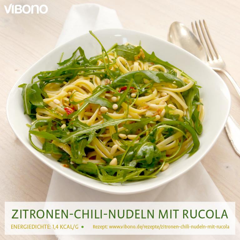 Zitronen-Chili-Nudeln mit Rucola