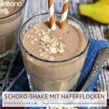 Schoko-Shake mit Haferflocken