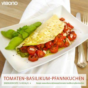 Tomaten-Basilikum-Pfannkuchen