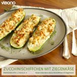 Zucchini-Schiffchen mit Ziegenkäse