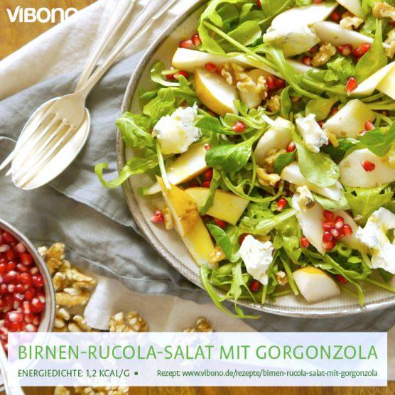 Birnen-Rucola-Salat mit Gorgonzola