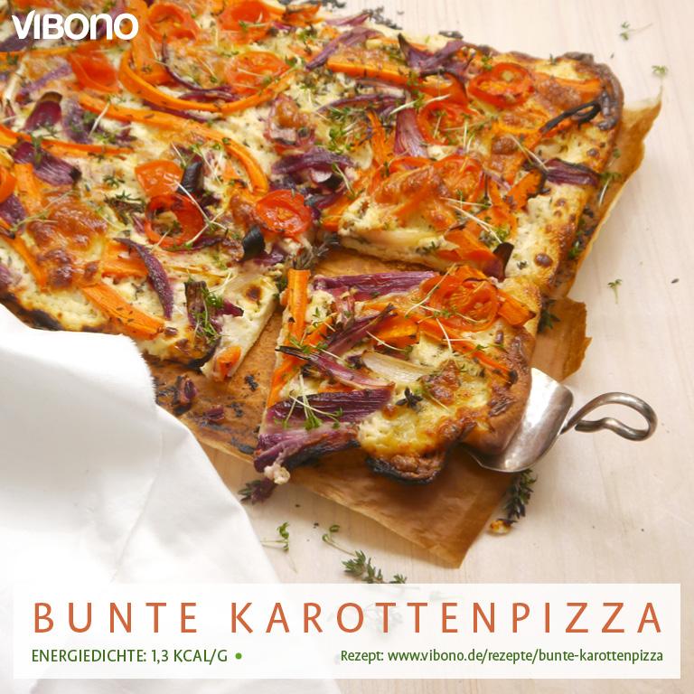 Bunte Karottenpizza