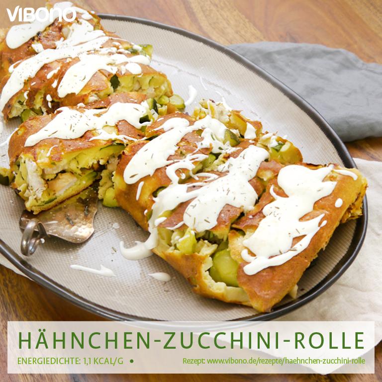Hähnchen-Zucchini-Rolle